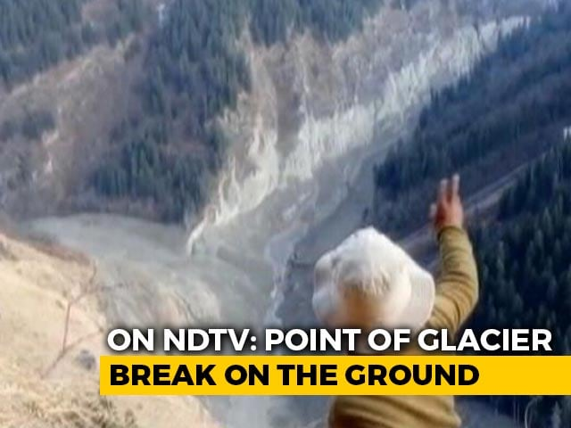 Video : Uttarakhand Glacier Disaster: Exclusive Visuals Of Point Of Impact