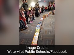 Fascinating Viral Video Of School's Cereal Boxes Domino Trail Won't Even Let You Blink