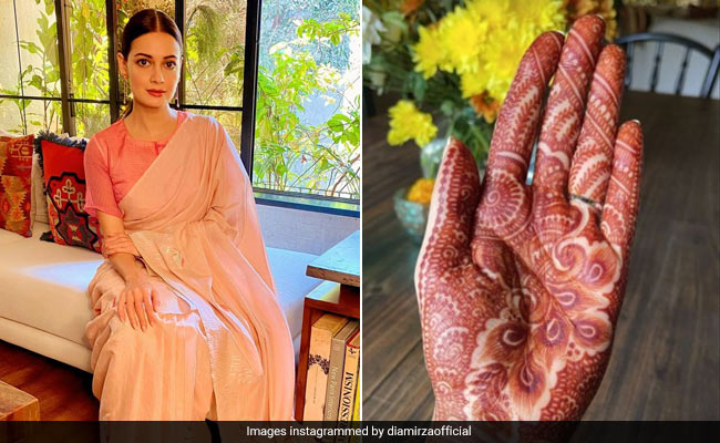 'Pyaar': Dia Mirza's One-Word Caption For Pic From Wedding Festivities