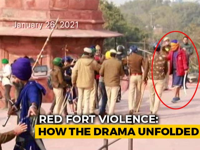 Video : Delhi Police Shares Fresh Videos Of Violence At Red Fort On Republic Day