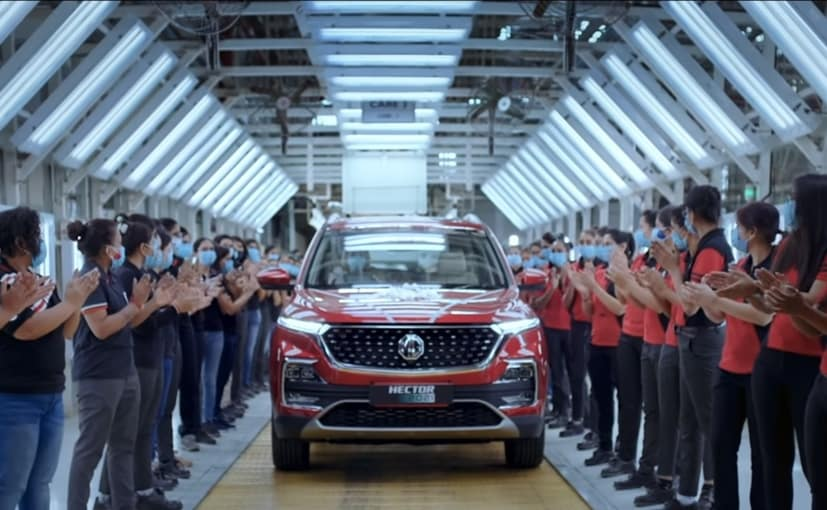 The 50,000th MG Hector SUV was built by an all-women crew, at the company's Halol plant