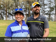 "Sachin Tendulkar Poses With Yuvraj Singh While Playing Golf, Says ""We've Travelled Quite A Few Yards"""