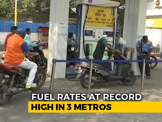 Video: Petrol, Diesel Prices Touch Record Highs After 2-Day Pause
