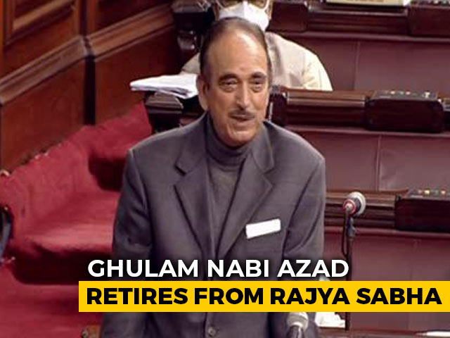 Video : Learnt From Atal Bihari Vajpayee On Running House, Says Ghulam Nabi Azad