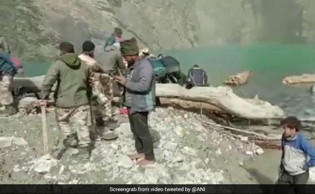 ITBP, Disaster Response Team Remove Obstacles From Uttarakhand Lake