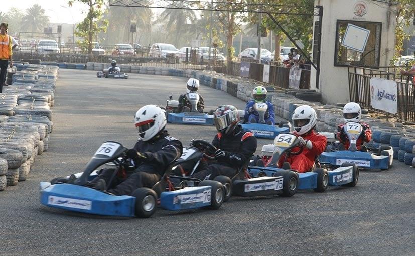 The Ajmera Indikarting Clash of Pros racing event was held at the Ajmera karting circuit in Mumbai