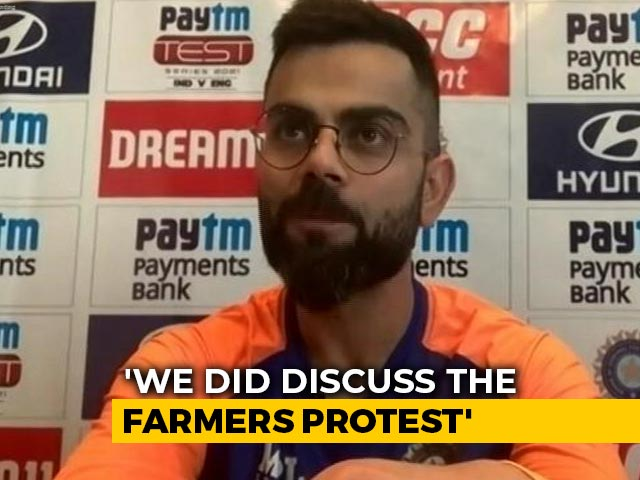 """Video : """"Briefly Discussed It In Team Meeting"""": Virat Kohli On Farmers' Protest"""