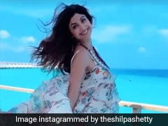 Shilpa Shetty Frolics In A Floral Dress On Vacation In The Picturesque Maldives