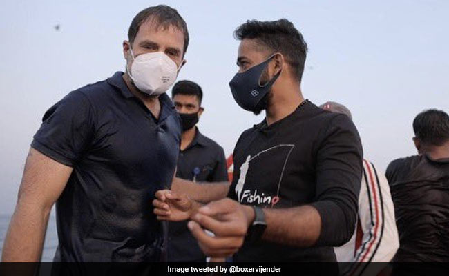 'Most Daring...': Boxer Vijender Singh's Tweet On Rahul Gandhi's 'Abs'