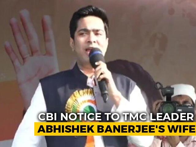 Video : Trinamool Leader Abhishek Banerjee's Wife Summoned By CBI: Sources
