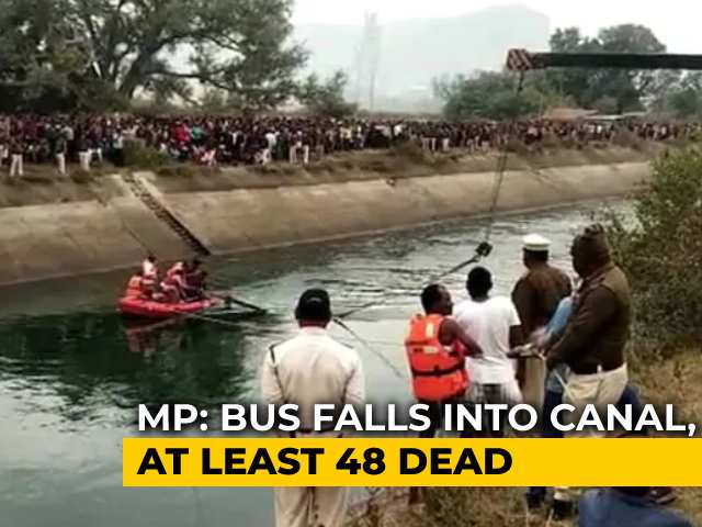 Video : 48 Dead As Bus Falls Into Canal In Madhya Pradesh