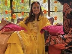 ICYMI: Trending Pics From Newlywed Dia Mirza's <i>Mehndi</i> Ceremony