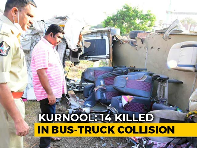 Video : 14 Killed In Andhra Pradesh Bus Accident, 4 Survivors Are Children