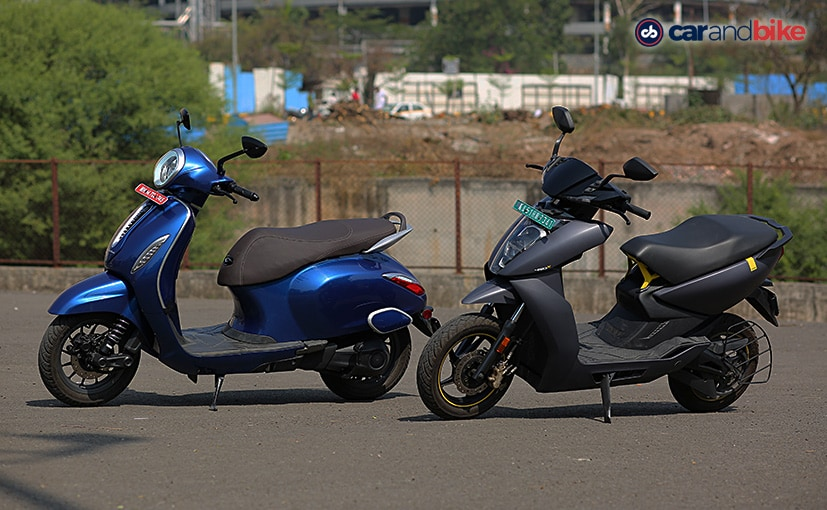 The Chetak electric scooter goes up against the Ather 450X