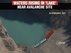 "Satellite Pics Show ""Dangerous"" Lake Formed By Uttarakhand Avalanche"