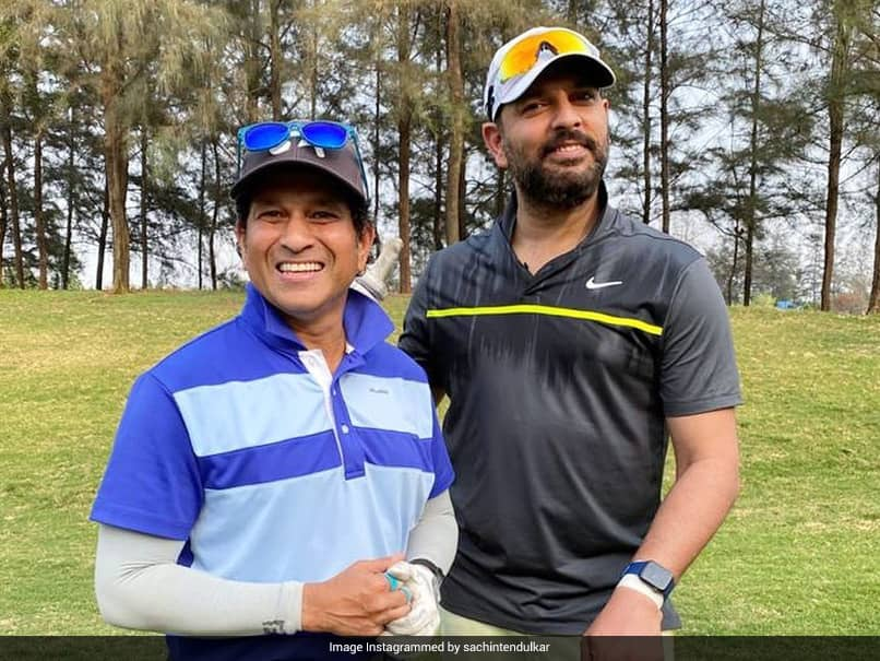 """Sachin Tendulkar Poses With Yuvraj Singh While Playing Golf, Says """"Weve Travelled Quite A Few Yards"""""""