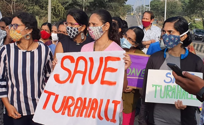 Bengaluru Residents Protest Move To Convert Forest Into Tree Park