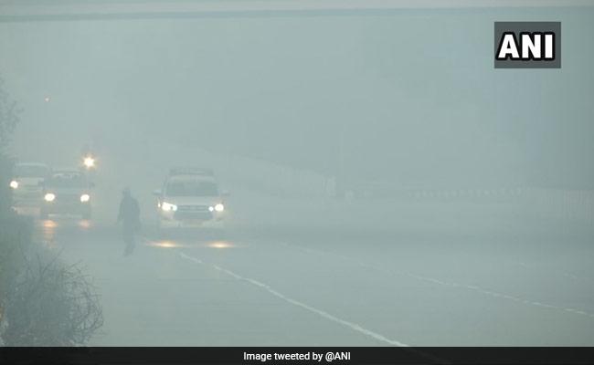 Visibility Drops As Fog Shrouds Delhi