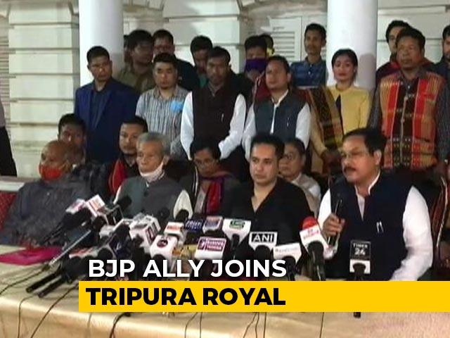 Video : Ahead Of Crucial Poll, BJP Ally Joins Tripura Royal, Seeks Separate State