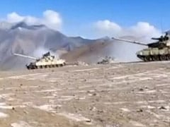 Watch: First Video Of Indian, Chinese Tanks Disengaging In Ladakh