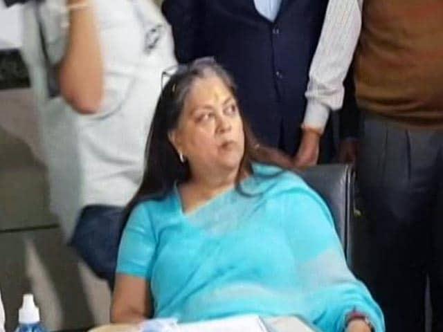Video : Vasundhara Raje Back In Rajasthan After 3 Months, Ahead Of Key Bypolls