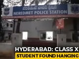"""Video : """"Humiliated"""" Over Fees, Hyderabad Class 10 Student Dies By Suicide"""