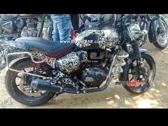 Upcoming Royal Enfield Hunter Motorcycle Spied Up-Close
