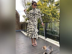 Priyanka Chopra And Adorable Pooch Diana In Next-Level White Tiger Twinning Pic