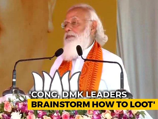 "Video : DMK-Congress Meetings Like ""Corruption Hackathons"", Says PM Modi"