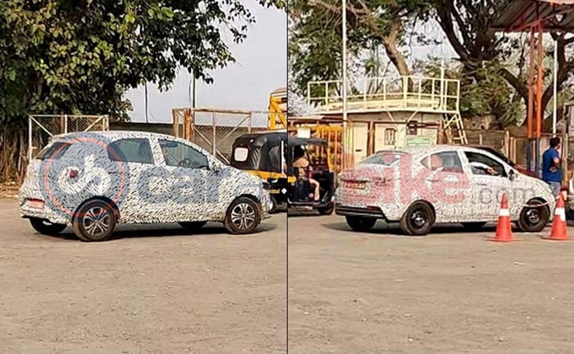 Tata Motors is testing the CNG variants of the Tiago hatchback and Tigor sedan in India.