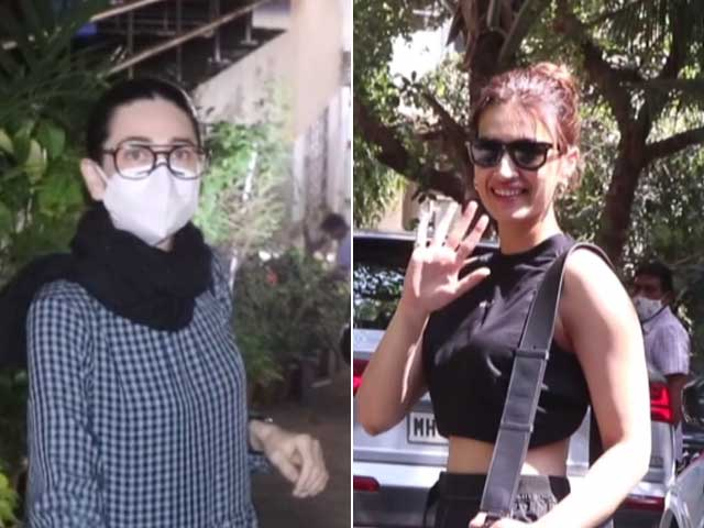Video : From Karisma Kapoor To Kriti Sanon, B-Town Celebs Spotted In Mumbai