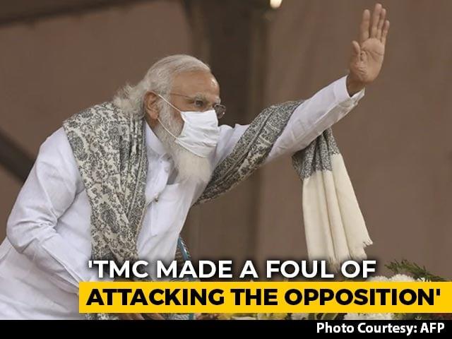 "Video : PM Modi Warns Mamata Banerjee Of ""Ram Card"", Says Too Many Fouls Made"