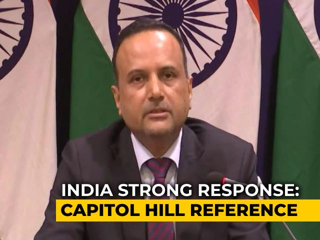Video : After US Remarks On Farmers' Protest, India Cites Capitol Hill Violence
