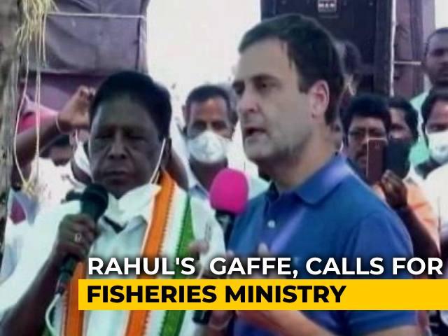 Video : Rahul Gandhi Calls For Fisheries Ministry. Minister's Retort In Italian