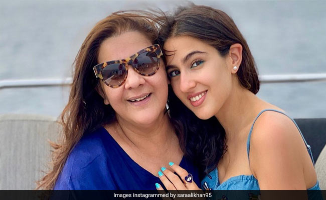 'Happy Birthday To My Whole World,' Sara Ali Khan Writes For Mom Amrita Singh