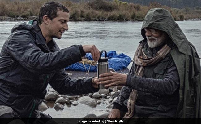 Bear Grylls Shares Throwback Pic Drinking Tea With PM Narendra Modi