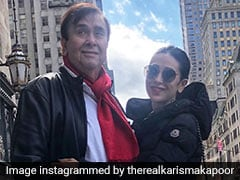 Kareena, Karisma Celebrate Father Randhir Kapoor's Birthday With Special Cake