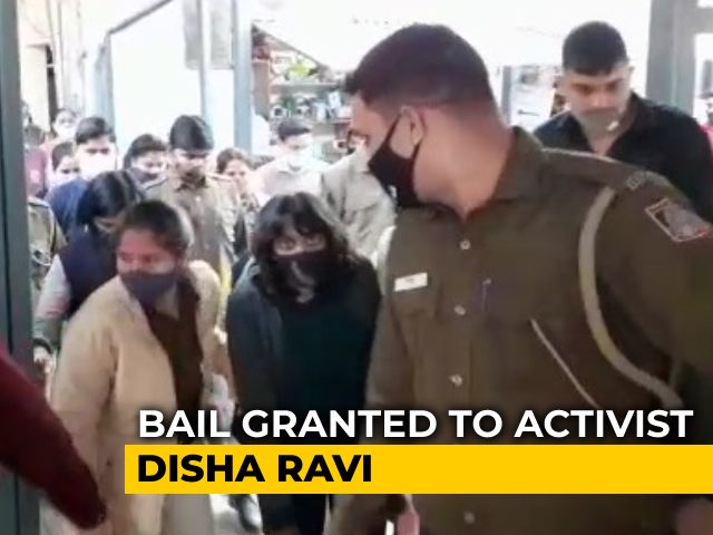 "Video : ""Scanty, Sketchy Evidence"": Disha Ravi Walks Out Of Jail"