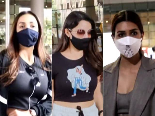 Video : Malaika Arora, Kriti Sanon And Nora Fatehi's Easy-Breezy Airport Looks