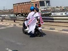 After Tejashwi Yadav's Tractor Ride, Mamata Banerjee's Scooter Spin