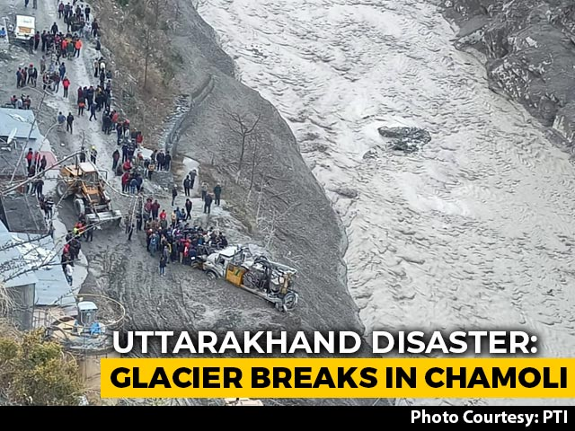 Video : Huge Flood As Uttarakhand Glacier Breaks, 10 Dead, 125 Missing