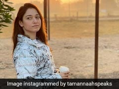 Tamannaah Bhatia, In A Printed Puffer Coat, Makes Winter Fashion Look Super Cosy