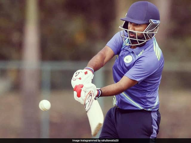 Vijay Hazare Trophy: Tewatia Celebrates India Call-Up With 39-Ball 73