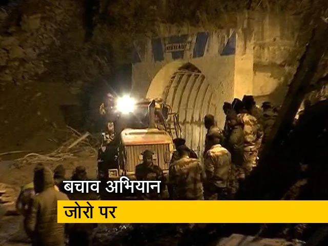 Videos : उत्तराखंड: सुरंग में बचाव अभियान जारी, रात भर चला मलबे को हटाने काम