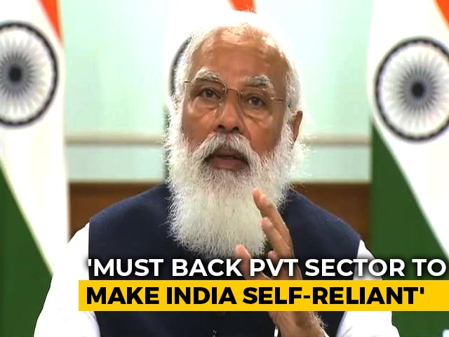 "Video : ""Governments Should Back Private Sector To Make India Self-Reliant"": PM"