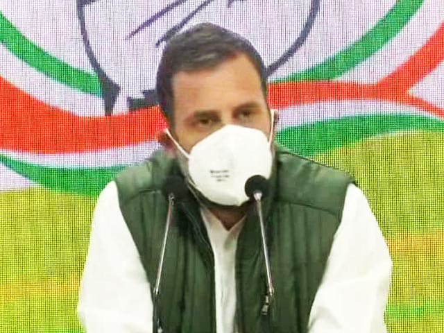 """Video : """"Farmers Won't Back Down, Government Will Have To"""": Rahul Gandhi"""