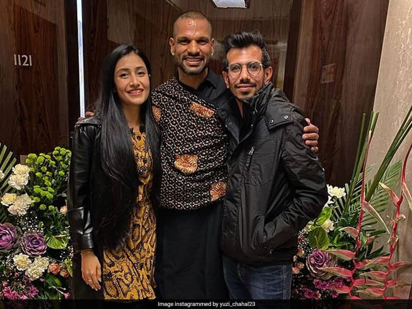"""Yuzvendra Chahal Thanks """"Best Host"""" Shikhar Dhawan, Posts Pic With Teammate, Wife"""