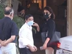 Neetu Kapoor, Tara Sutaria and Babita Kapoor arrive to pay their last farewell to Rajiv Kapoor