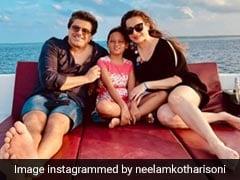 Neelam Kothari, Husband Samir Soni Enjoy This Indian Feast On Maldives Vacation