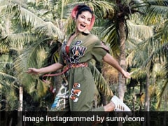 Sunny Leone Gives Us Monday Lessons In A Quirky Printed Jumpsuit